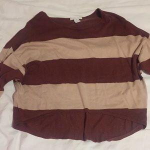 """Design history"" striped crop sweater"